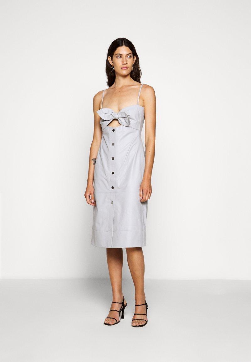 Proenza Schouler White Label - LIGHTWEIGHT KNOTTED TOP DRESS - Pouzdrové šaty - grey