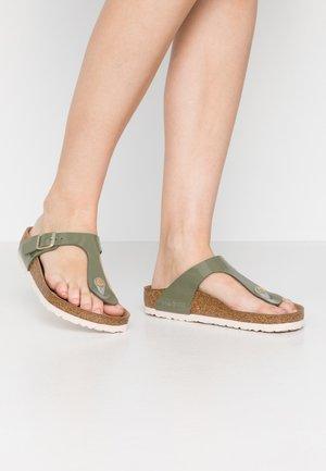 GIZEH - T-bar sandals - khaki