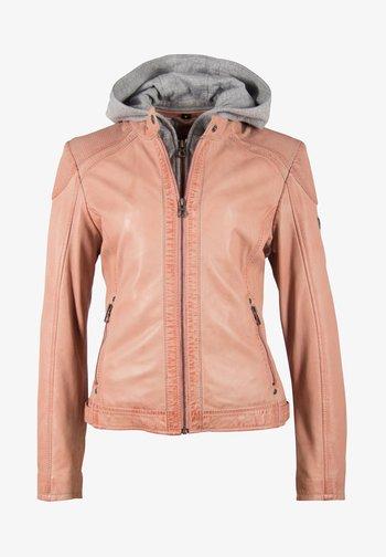 ABBY - Veste en cuir - rose