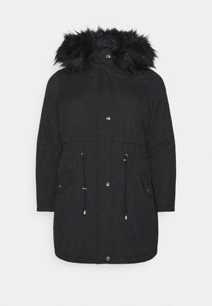 LI HOODED - Parka - black