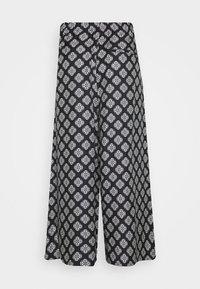 PANTS CULOTTE MEDIUM RISE WIDE LEG - Trousers - black