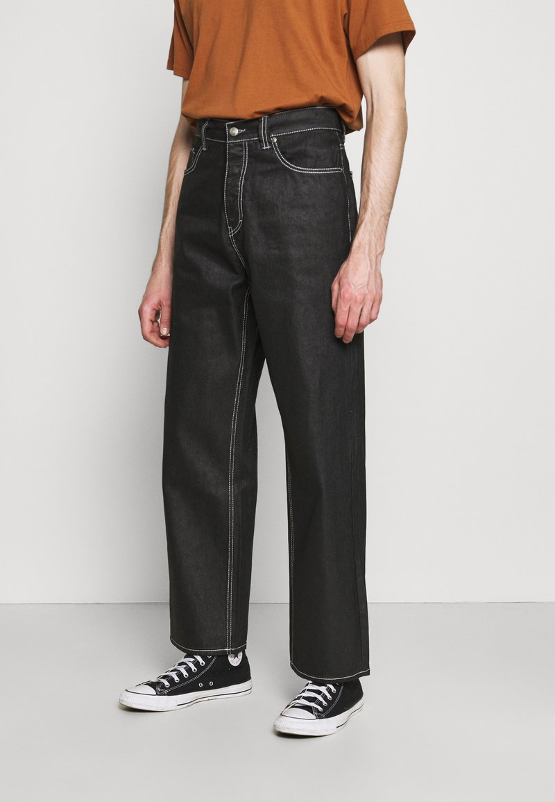 Jaded London - RELAXED FIT  - Straight leg jeans - black