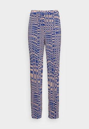 CLARA TROUSERS - Bukser - blue pink