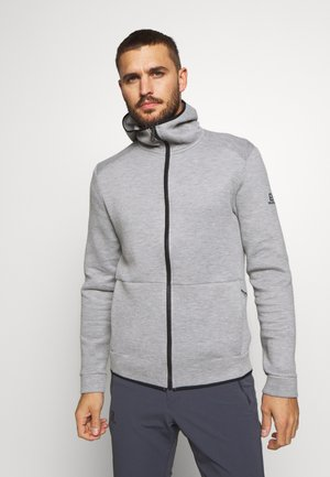 SIGHT HOODIE - Mikina na zip - medium grey/heather