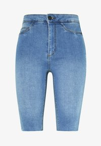 Noisy May - NMBE CALLIE - Szorty jeansowe - light blue denim - 3