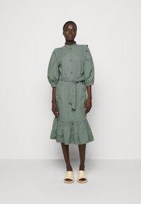 Bruuns Bazaar - BASIL GALLIANA DRESS - Shirt dress - moss - 0