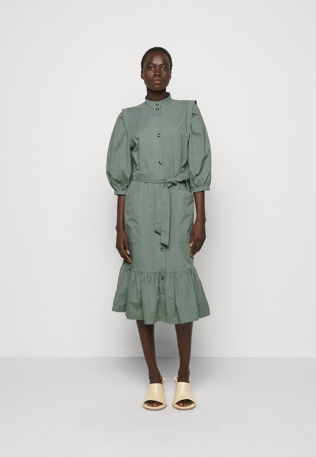 BASIL GALLIANA DRESS - Shirt dress - moss