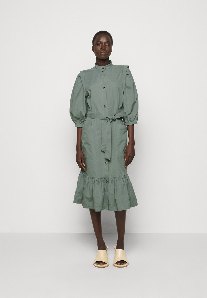 Bruuns Bazaar - BASIL GALLIANA DRESS - Shirt dress - moss