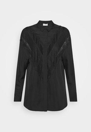 LUETA - Button-down blouse - black