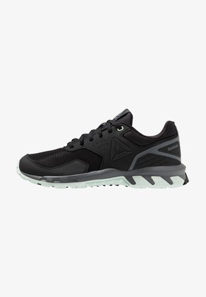 RIDGERIDER TRAIL 4.0 - Trail running shoes - black/greyemerald ice