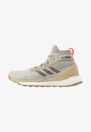 FREE HIKER BOOST PRIMEKNIT SHOES - Hiking shoes - grey/solid grey/solar red