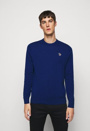 MENS CREW NECK ZEBRA - Trui - dark blue