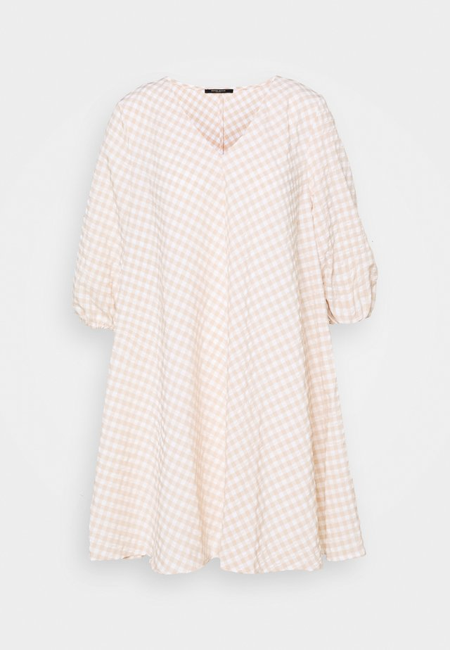 SEER ALLURE DRESS - Day dress - sand/white check