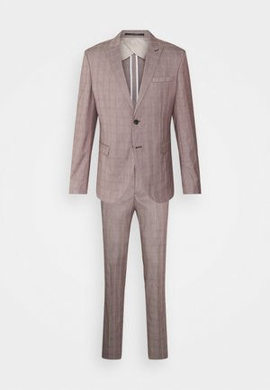 SLHSLIM KNOXLOGAN CHECK SUIT SET - Suit - red dahlia/white