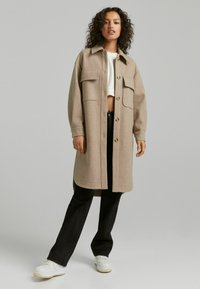 Bershka - Klassinen takki - beige - 1