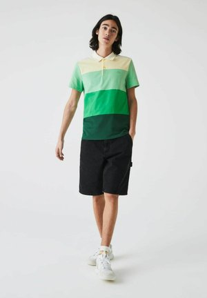 Polo shirt - grün/grün/grün/gelb/beige