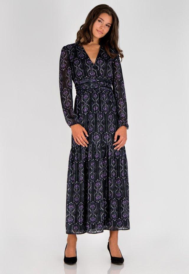 Maxi-jurk - schwarz-multicolor