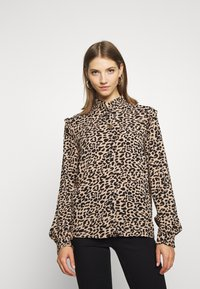 b.young - BXJULA - Button-down blouse - golden sand combi - 0