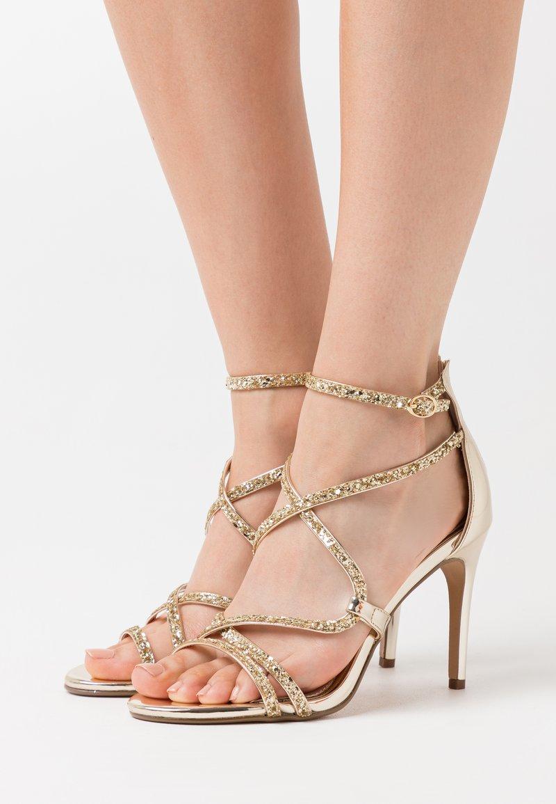 Buffalo - MERCY - High heeled sandals - light gold