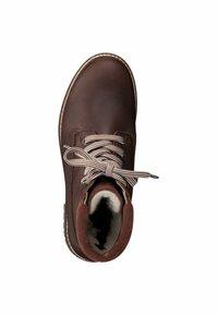 Tamaris - Šněrovací kotníkové boty - cognac pull up - 1