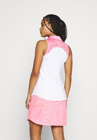 Under Armour - ZINGER SLEEVELESS BLOCKED - Funkční triko - white/lipstick - 2