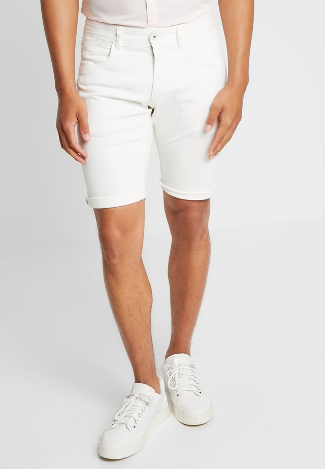 MICRO - Denim shorts - white