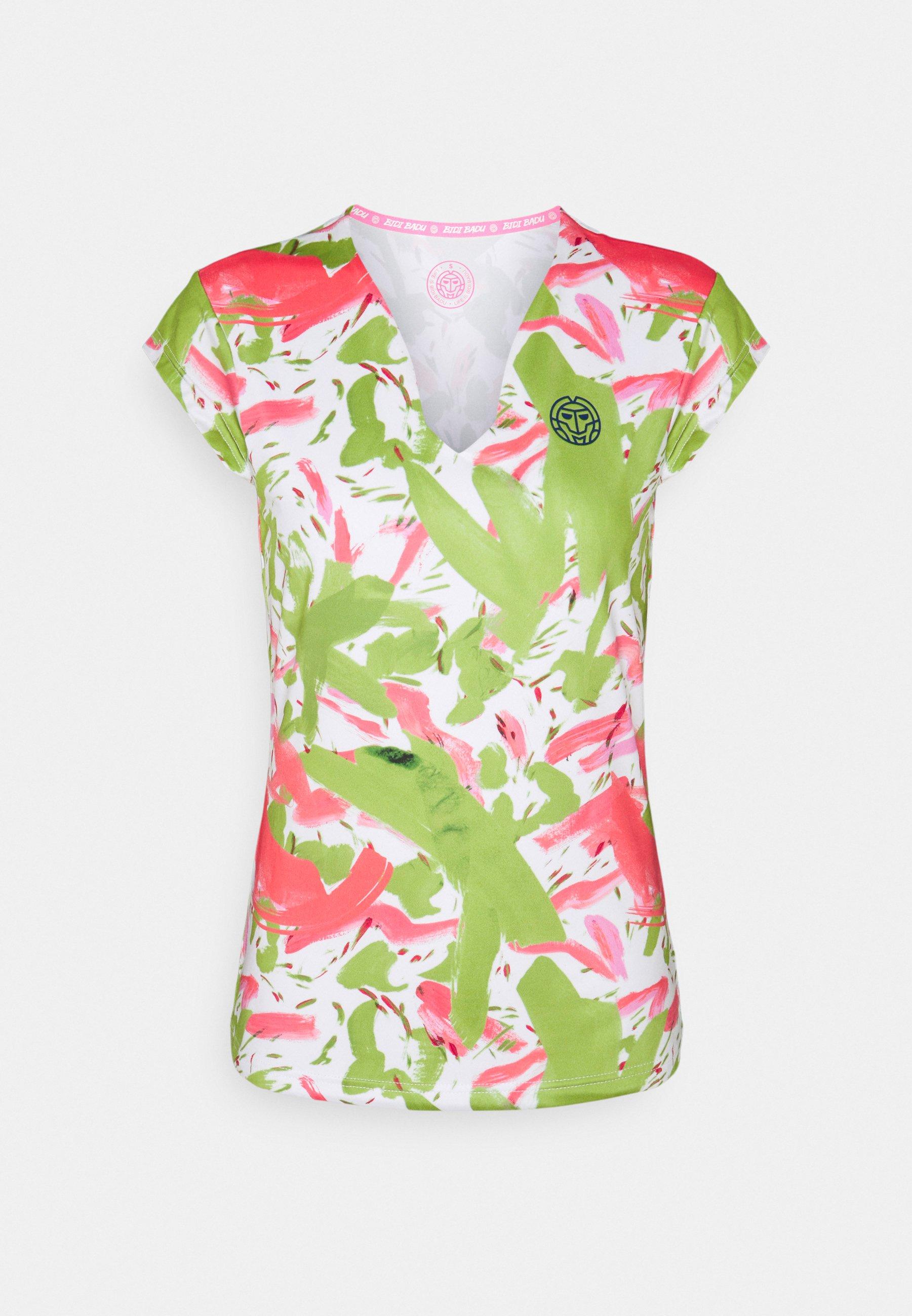 Damen BELLA 2.0 TECH V NECK TEE - T-Shirt print