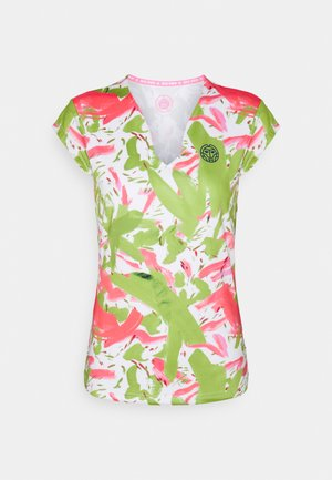 BELLA 2.0 TECH V NECK TEE - T-shirt med print - green/berry
