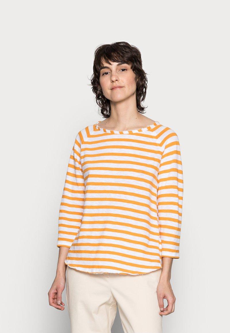 Rich & Royal - HEAVY JERSEY LONGSLEEVE - Long sleeved top - golden orange
