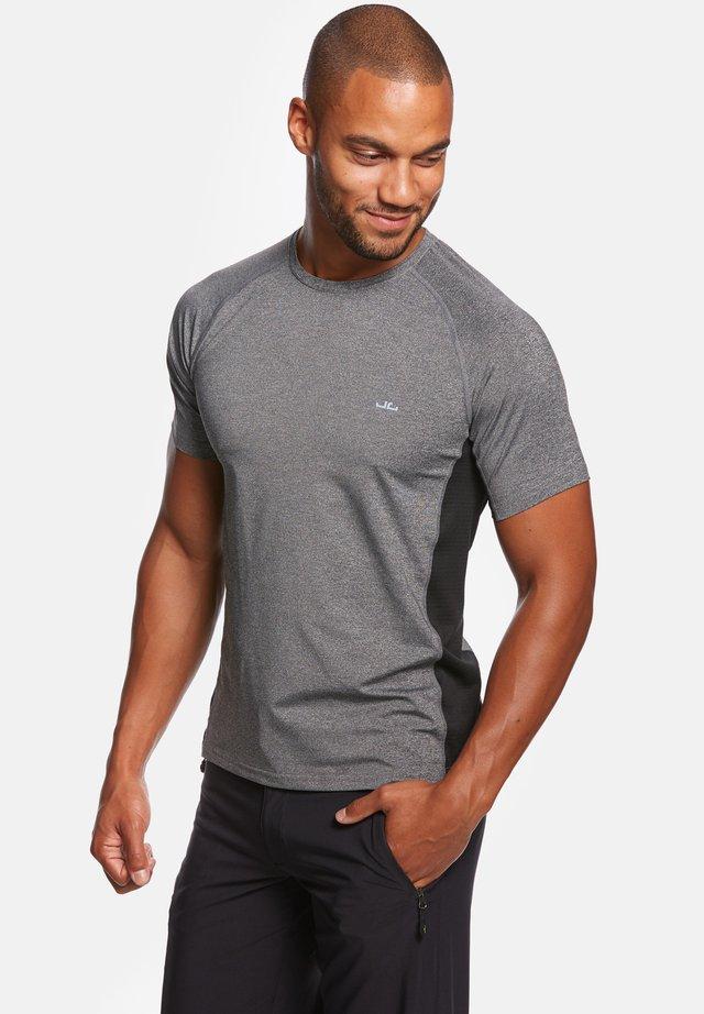 RIVARA - T-shirt print - grey mel/black