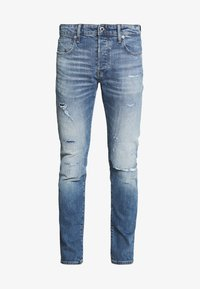 G-Star - SLIM - Jean slim - denim worn in blue faded - 4