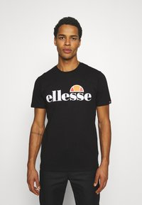 Ellesse - SMALL LOGO PRADO - Camiseta estampada - black - 0
