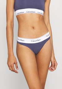 Calvin Klein Underwear - MODERN THONG - Perizoma - blue granite - 0