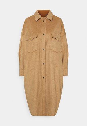 OVERSIZED JACKET  - Classic coat - tobacco melange