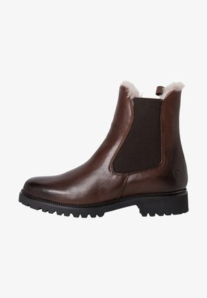 Classic ankle boots - maroon/fur