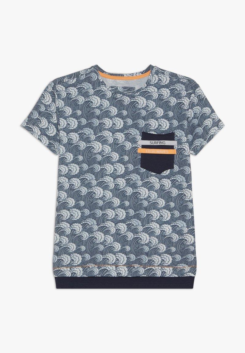 Blue Effect - BOYS WELLEN - Print T-shirt - blue