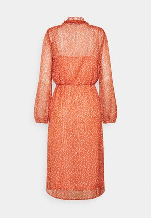 XELINA DRESS - Day dress - red orange/puff sky