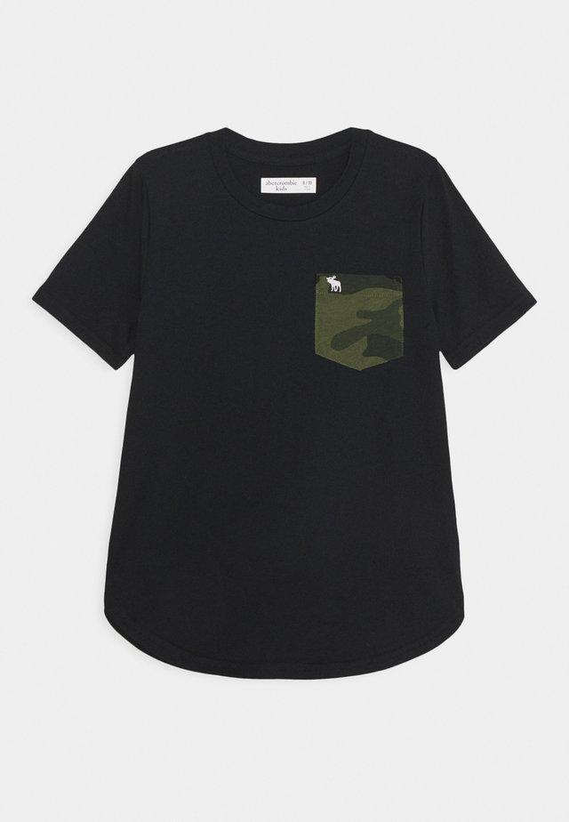 PATTERN TEE  - T-shirts med print - black