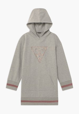JUNIOR HOODED DRESS - Denní šaty - light heather grey