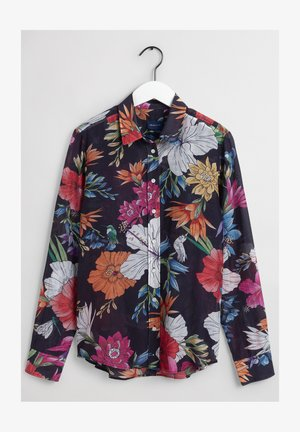 Button-down blouse - evening blue