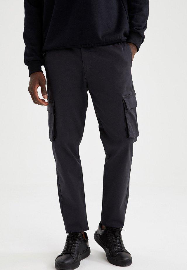 Pantaloni cargo - anthracite