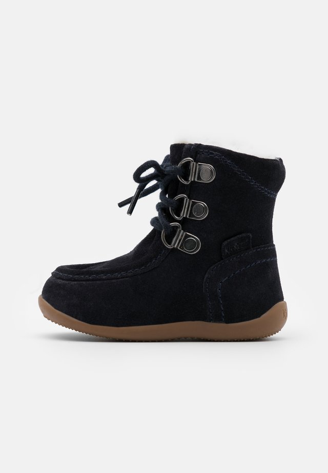 BAMARA - Lace-up ankle boots - marine