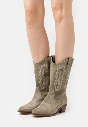 ROSE - Cowboy/Biker boots - army