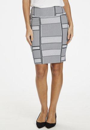KAPARRIS PENNY - Blyantnederdel / pencil skirts - black/chalk