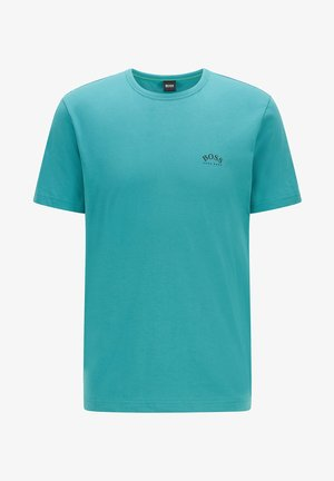 """""""TEE CURVED"""" - Basic T-shirt - turquoise"""