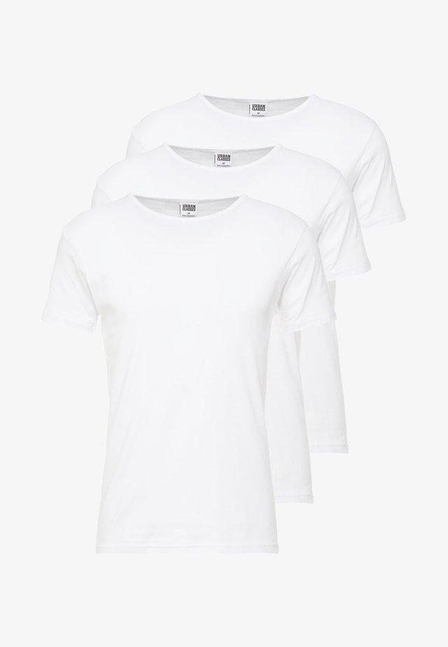 SEAMLESS TEE 3 PACK - Caraco - white