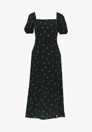 SPOT BELTED MIDI - Sukienka letnia - black