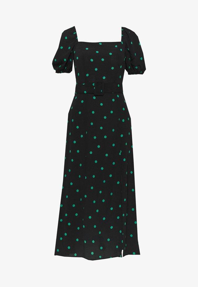SPOT BELTED MIDI - Day dress - black