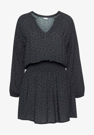 Day dress - anthrazit schwarz bedruckt
