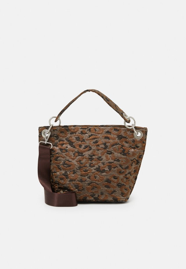 NEAT LEOPARD - Handbag - silver/brown/multi